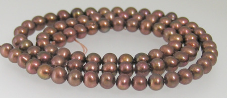 4.5-5.0mm Brown/Copper Pearls