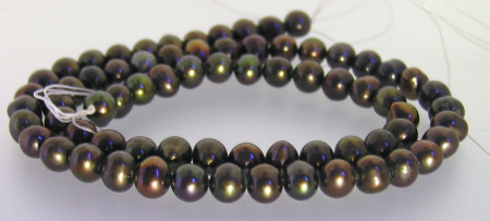 6.5-7mm Dark Brown Pearls